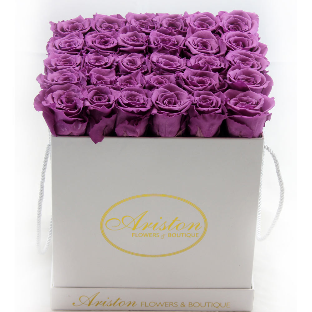 everlasting purple roses ariston flowers and boutique