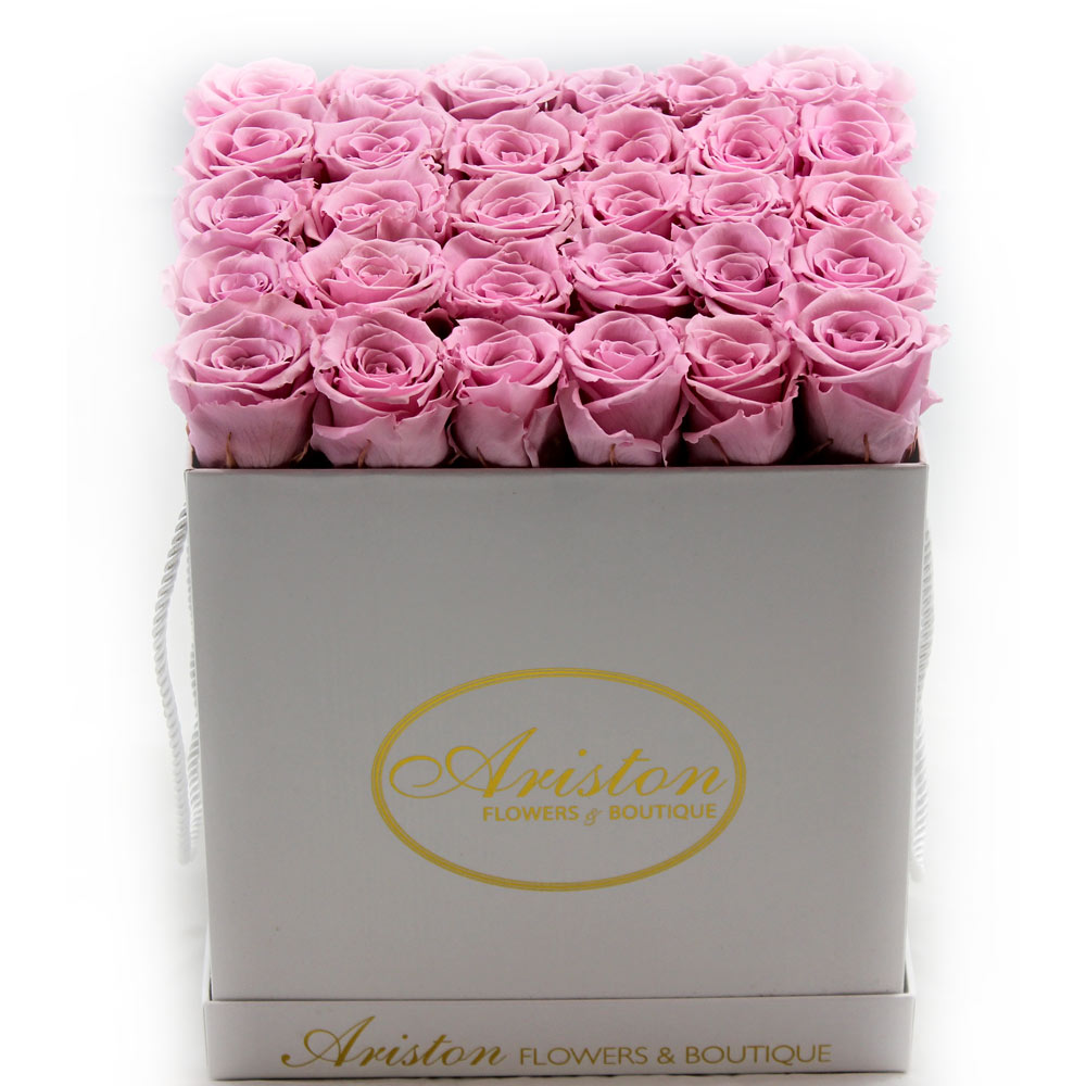 Everlasting Pink Roses - Ariston Flowers and Boutique